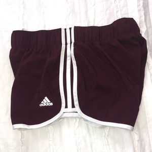 Maroon Adidas Athletic Shorts